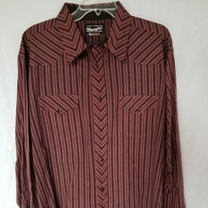 Wrangler Men's authentic western shirt size XXL